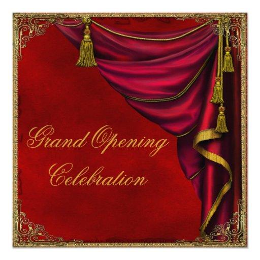 Ouverture officielle rouge d'entreprise constituée cartons d'invitation