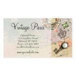 Ouvrage chic minable vintage et bijoux de Paris Carte De Visite Standard