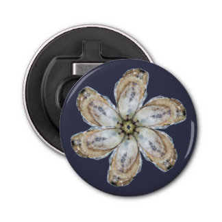 Ouvreur de bouteille d'aimant de fleur d'huître -