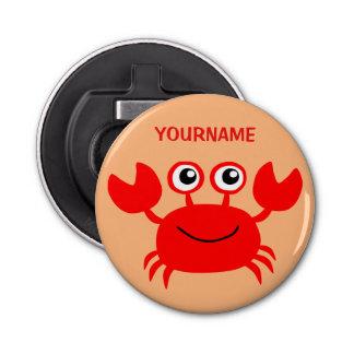 Ouvreur de bouteille fait sur commande de crabe