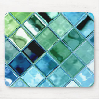 Ouvrez l art en verre Mousepad de mosaïque de tuil Tapis De Souris