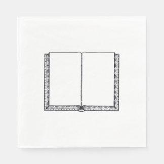 Ouvrez le livre (les pages vides) serviette en papier