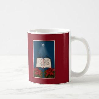 Ouvrez le message de Noël de bible Mug Blanc