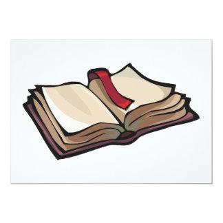 Ouvrez les invitations de livre