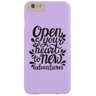 Ouvrez votre coeur à de nouvelles aventures coque barely there iPhone 6 plus