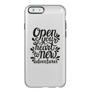 Ouvrez votre coeur à de nouvelles aventures coque iPhone 6 incipio feather® shine