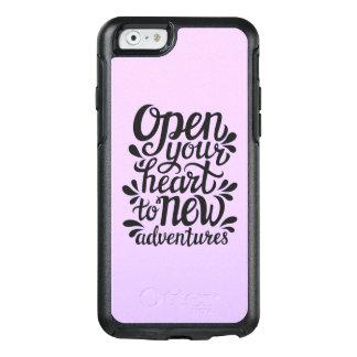 Ouvrez votre coeur à de nouvelles aventures coque OtterBox iPhone 6/6s