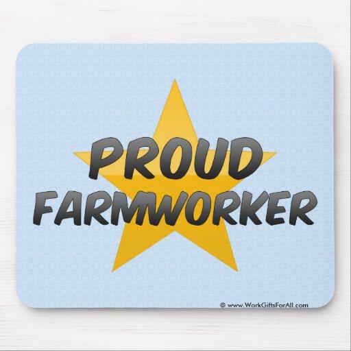 Ouvrier agricole fier tapis de souris