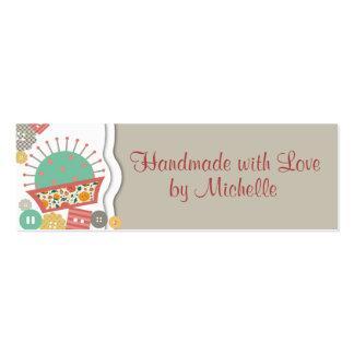 ouvrière couturière florale de couture de pelote à cartes de visite professionnelles