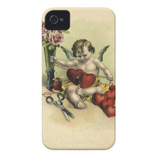 Ouvrière couturière victorienne vintage d'ange de coques iPhone 4