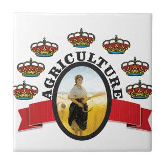 ovale de couronne d'agriculture petit carreau carré
