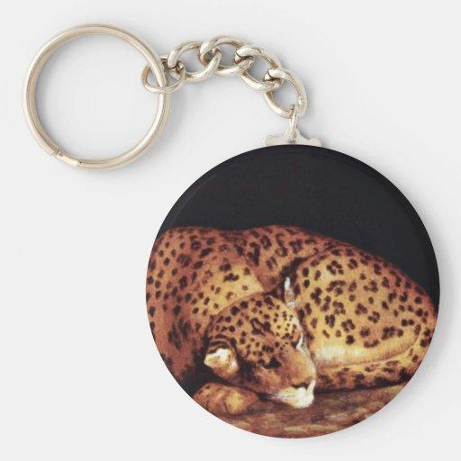 Ovale de léopard par Stubbs George Porte-clés
