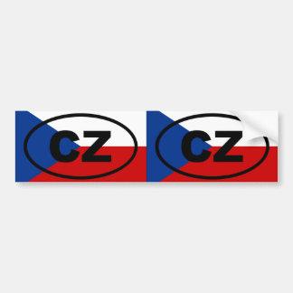 Ovale européen de la CZ de République Tchèque Autocollant De Voiture
