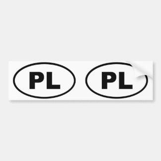 Ovale européen de la Pologne PL Autocollants Pour Voiture