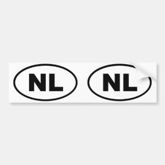 Ovale européen de Pays-Bas NL Autocollants Pour Voiture