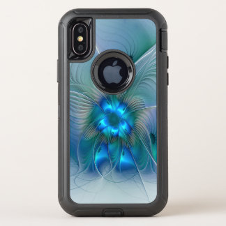 Ovations debout, fractale bleue abstraite de