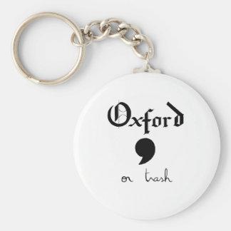 Oxford ou déchets porte-clé rond