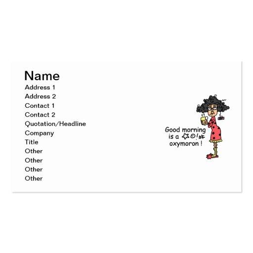 Oxymoron bonjour modèle de carte de visite