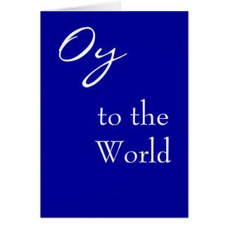 Oy à la carte de Hannukah du monde