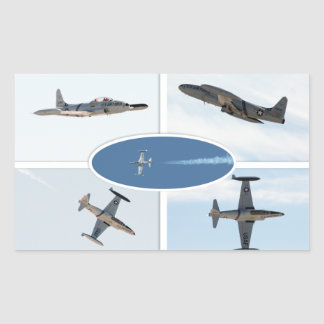 P-80 ensemble d'avion de l'étoile filante 5 sticker en rectangle