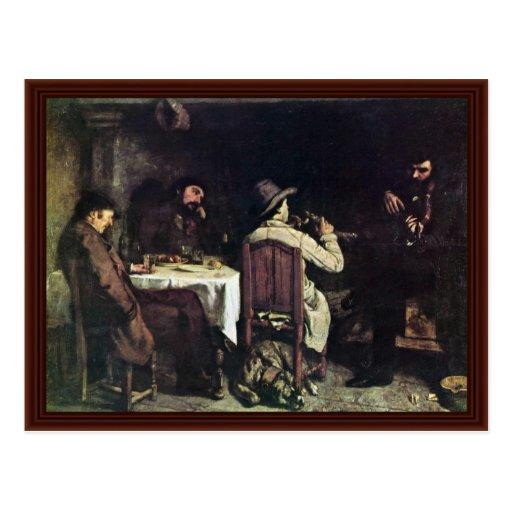 P.M. allemand chez Ornans (Une Après-Dinent à Orna Carte Postale