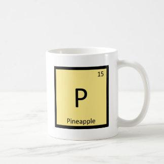 P - Tableau périodique de chimie de fruit d'ananas Mug Blanc