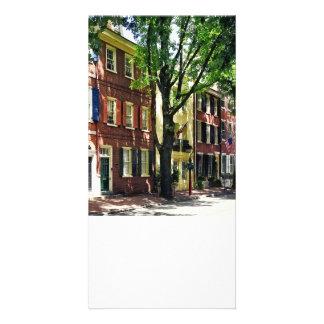 PA de Philadelphie - Société Hill Street Carte Avec Photo