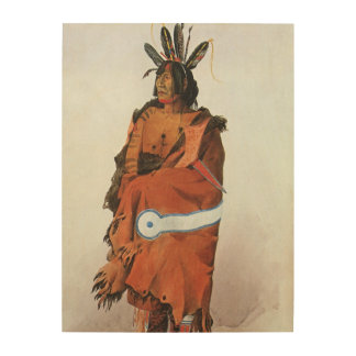 Pachtuwa-Chta portrait de guerrier d Arikara par Impression Sur Bois