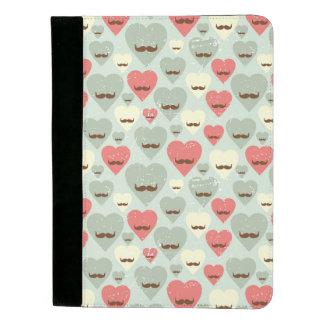 Padfolio Motif de Valentine avec le coeur et la moustache