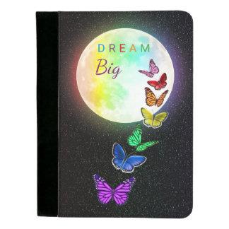 Padfolio Pleine lune d'arc-en-ciel et rêve de papillons