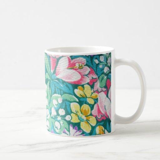 padrão floral mug