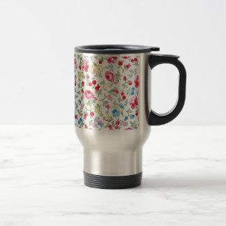 padrão floral tasses