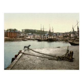 Padstow Quay, les Cornouailles, Angleterre c.1895 Carte Postale