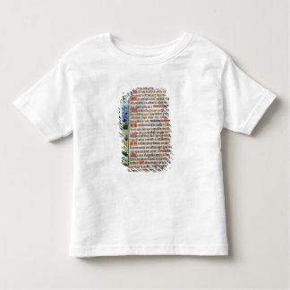 Page de texte avec un détail de frontière d'a t-shirt pour les tous petits