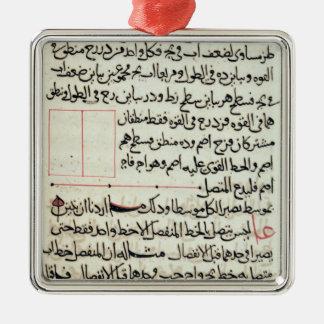 """Page de texte d'""""éléments"""", une géométrie de livre ornement carré argenté"""