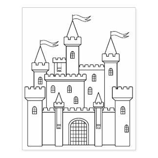 Page royale médiévale de coloration de château de