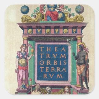 Page titre, 3ème édition 'Theatrun Orbis Sticker Carré