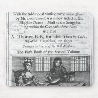 Page titre de 'Deliciae Musicae Tapis De Souris
