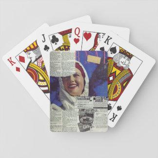 Pages déchirées jeu de cartes