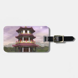 Pagoda - 3D rendent Étiquette À Bagage