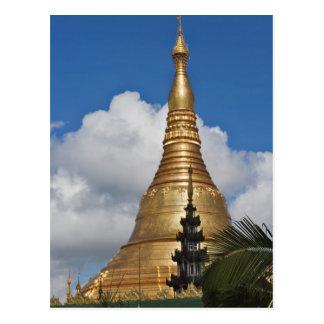 Pagoda de Shwedagon, Yangon, Myanmar Carte Postale