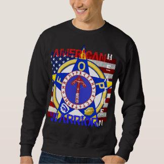 Païen américain--Police Sweatshirt