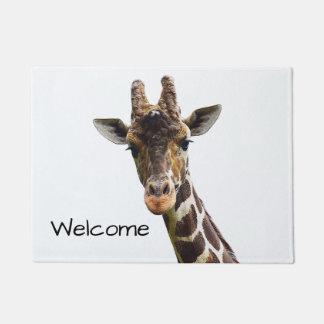 Paillasson aérien de girafe