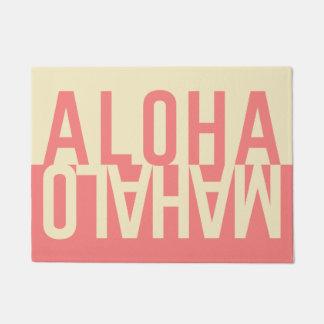 Paillasson Aloha et Mahalo (rose de ketmie)