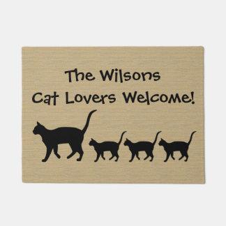 Paillasson Amoureux de les chats faits sur commande