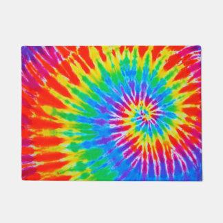 Paillasson Arc-en-ciel super de spirale de colorant de