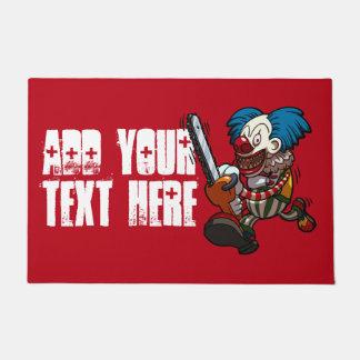 Paillasson Bande dessinée colorée de Halloween de clown