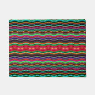Paillasson Beau motif onduleux coloré de rayure