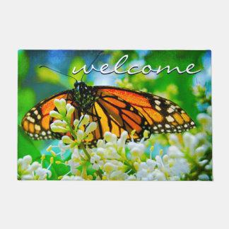 Paillasson Belle photo orange de papillon de monarque de