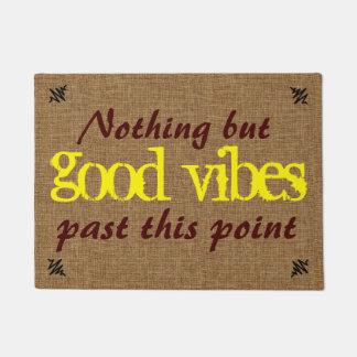 Paillasson Bon message de positif de Vibe